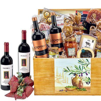 arcones y canastas de vinos y licores