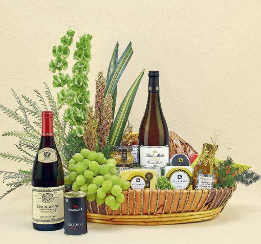 canastas gourmet con vino
