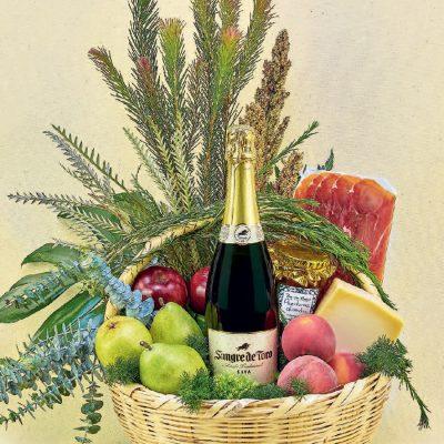 canastas de vinos y licores gourmet