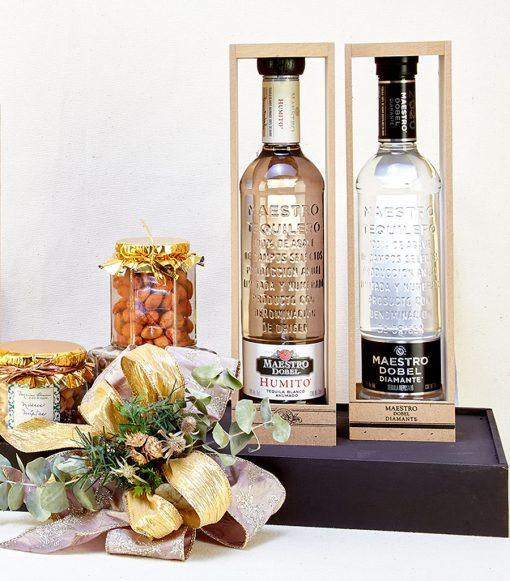 Tequila en tabla para regalo