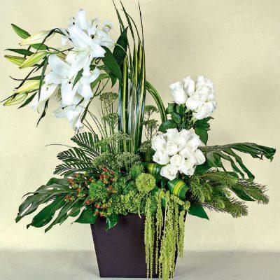 flores blancas a domicilio
