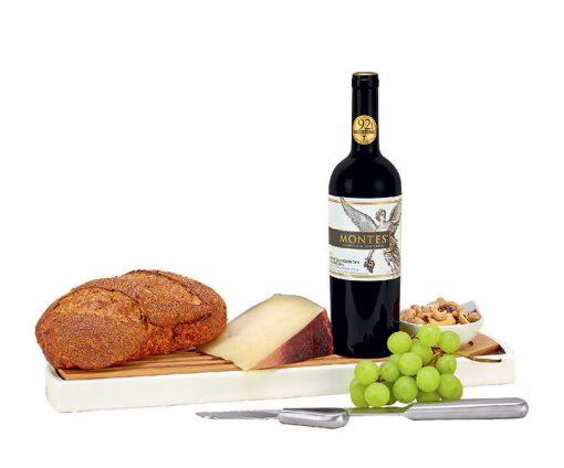 regalos con vino y queso