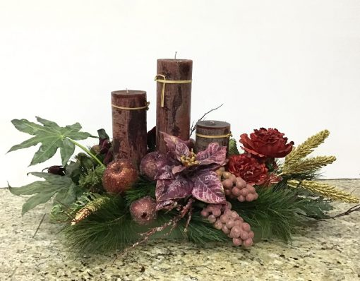 flores artificiales centro de mesa