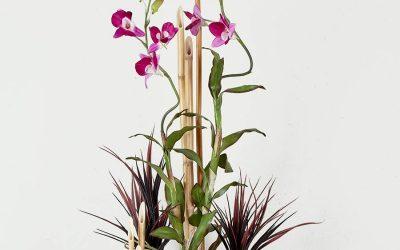 Cubo de Orquídeas Lilas