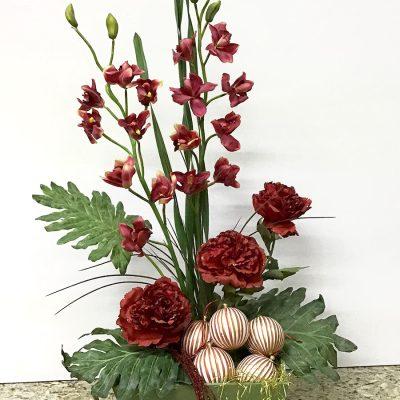 flores artificiales navideñas