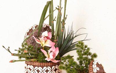 Dúo de Conchas y Orquídeas