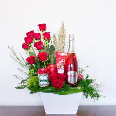 REgalos románticos con espumoso