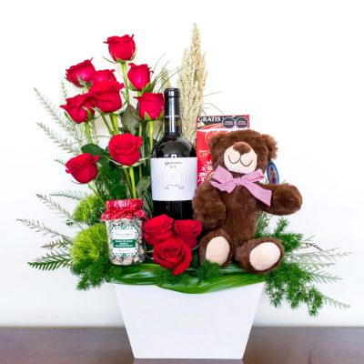 Regalos romanticos con vino
