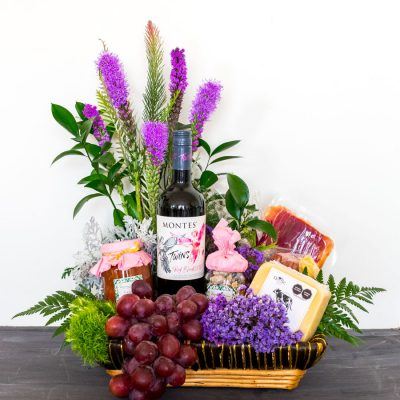 gift baksets canastas gourmet con vino