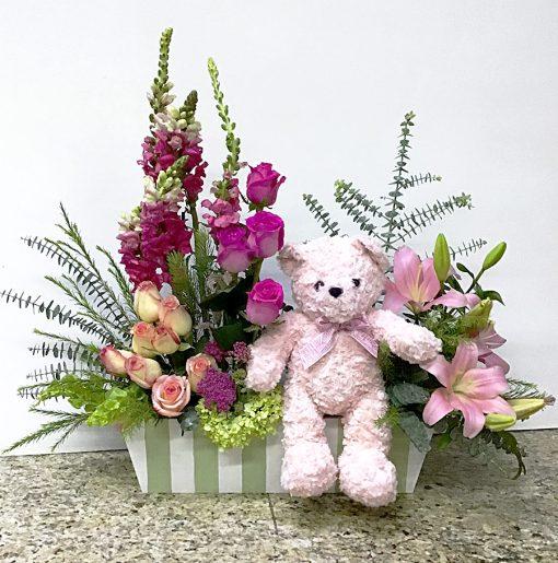 Regalos y flores para bebe recien nacido