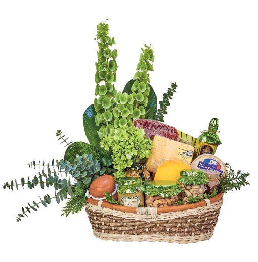 REgalos gourmet con quesos y flores cdmx